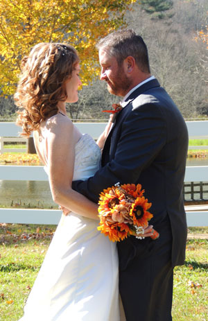 Married couple at Stillhouse Manor in Virginia